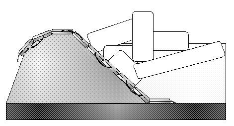 Укрепление временных противопаводковых сооружений